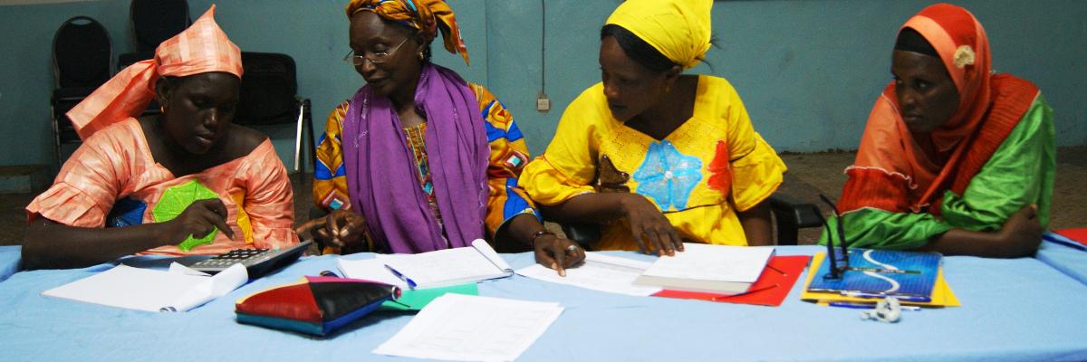 Des bénéficiaires d'un programme de microfinance sociale d'Entrepreneurs du Monde au Sénégal