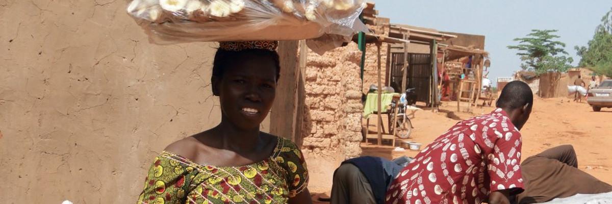 Une bénéficiaire au Burkina Faso