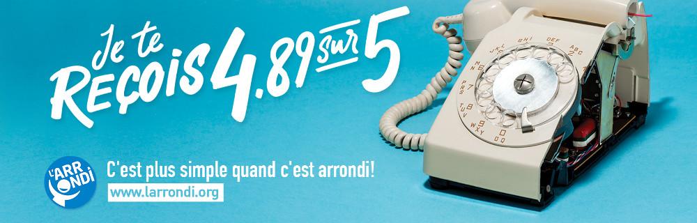 Campagne arrondi salaire téléphone.
